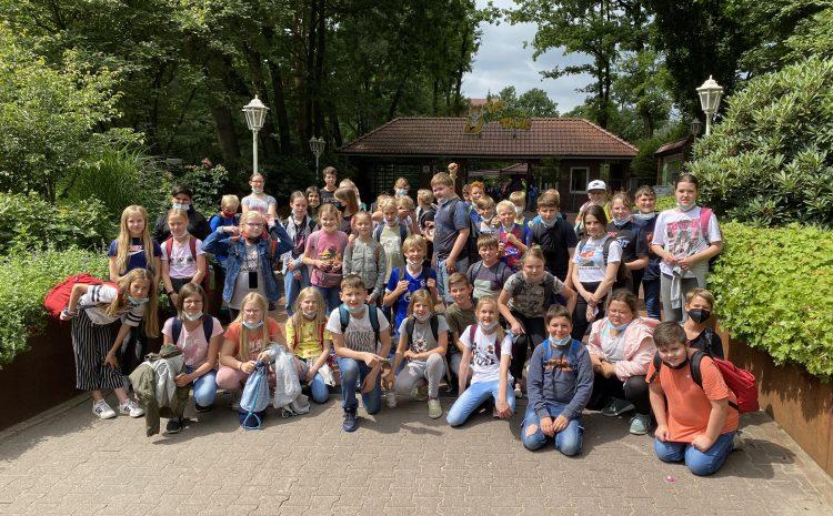 Berger Schulgemeinschaft auf Ausflug